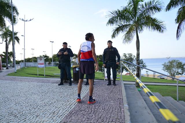 22.03.20. Praia da Ponta Negra interditada - coronavírus