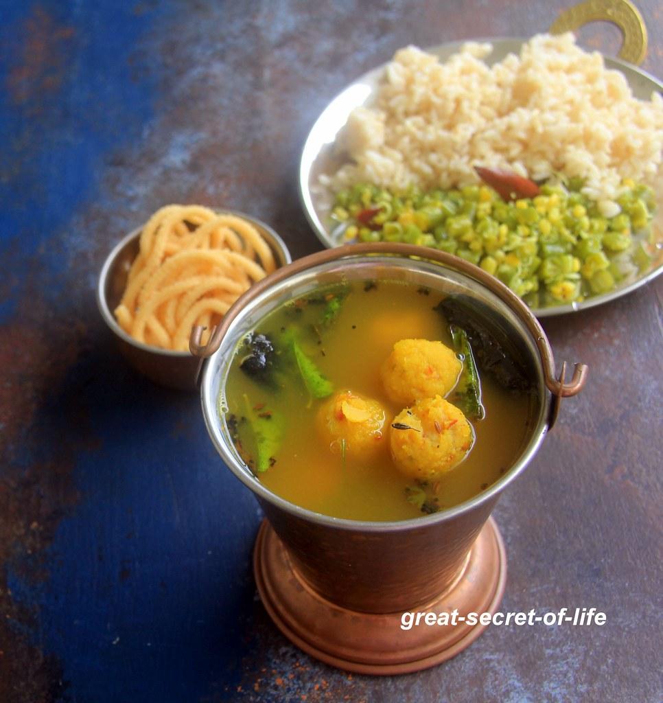 Paruppu Urundai Rasam Recipe - Lentil Dumplings Rasam - Immunity boosting recipes