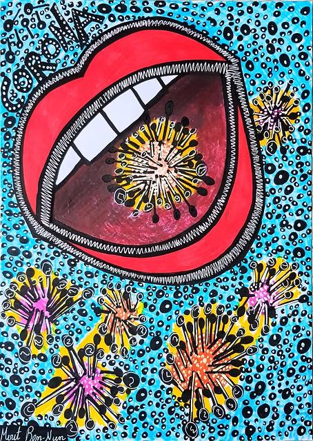 Art in the shade of Corona virus by Mirit Ben-Nun