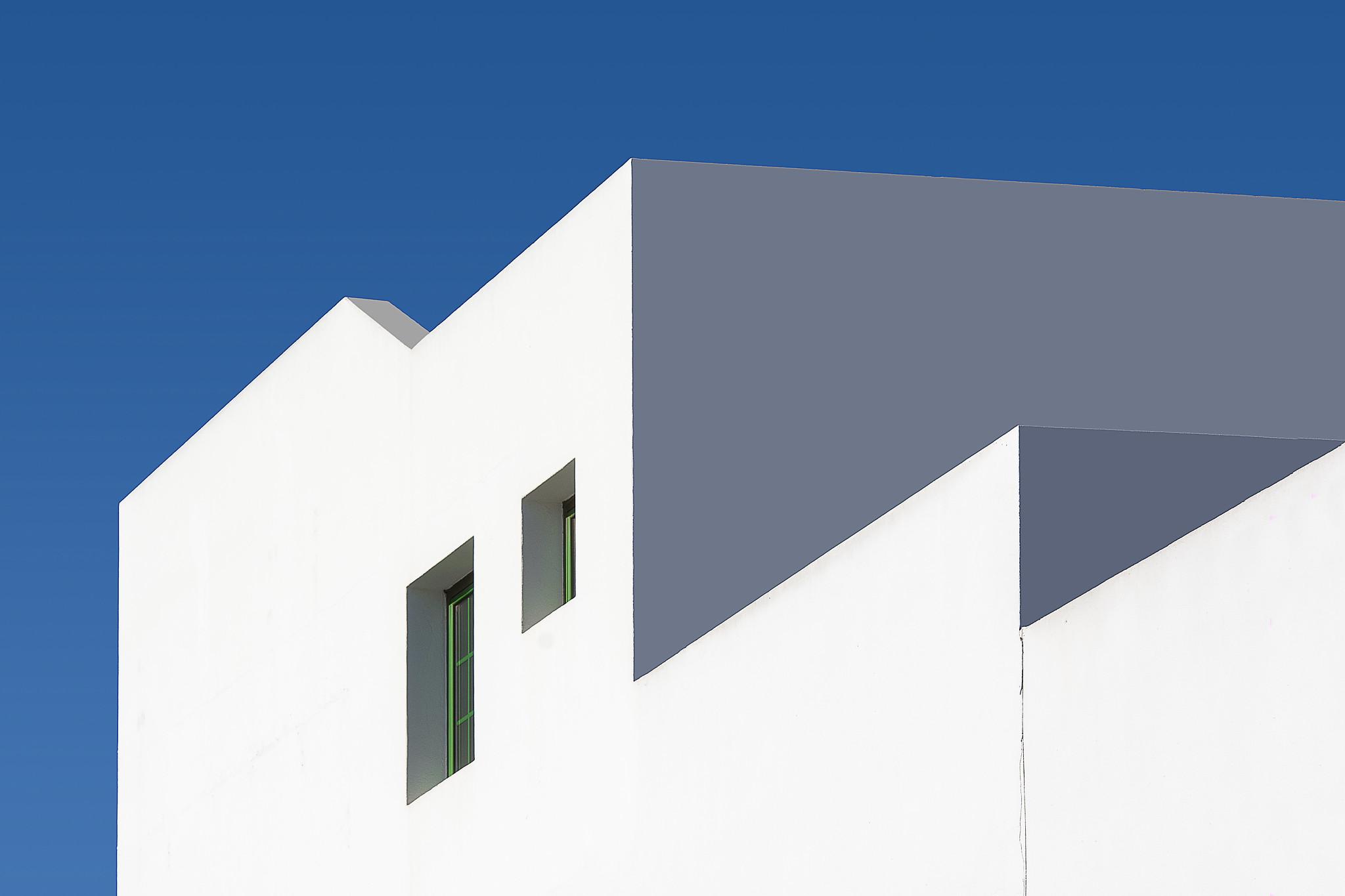 White house on Lanzarote