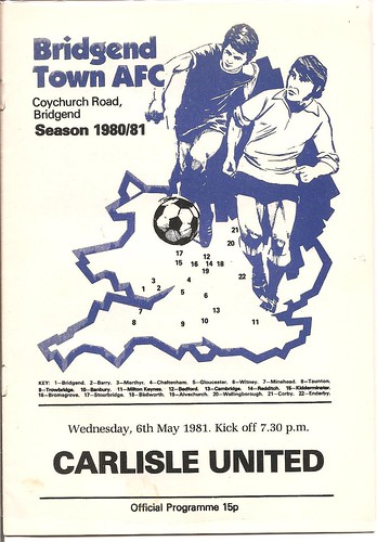 Bridgend V Carlisle United 6-5-1981 | by cumbriangroundhopper