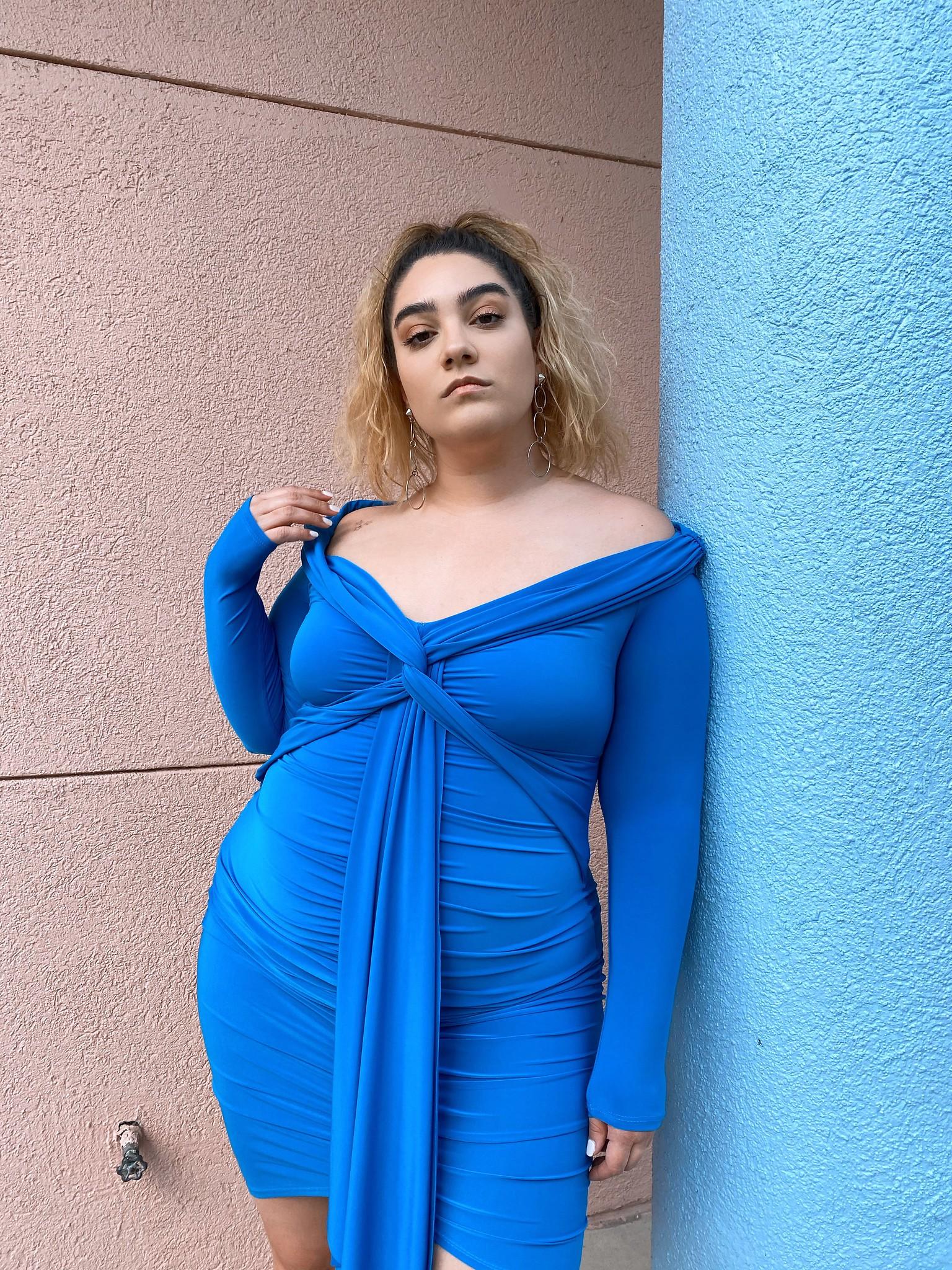 nadia aboulhosn blue dress