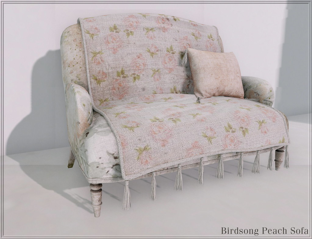 The French Farm-Birdsong Sofa Peach