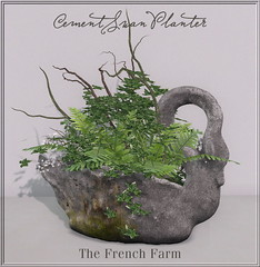The French Farm-Cement Swan Planter