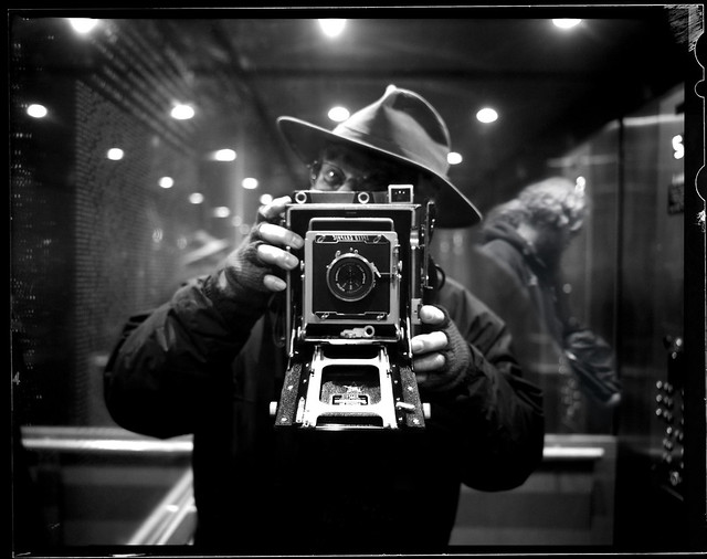 Self-Portrait as Weegee at the Central Library 200317
