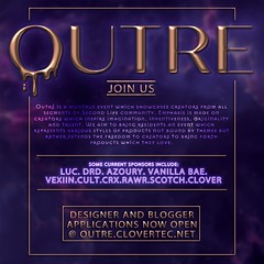 OUTRE is accepting designers and blogger apps now!