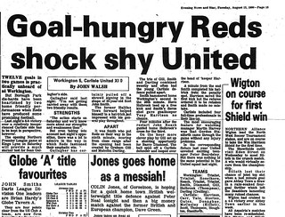 Workington V Carlisle United 11-8-1980 Match Report | by cumbriangroundhopper