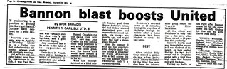 Penrith V Carlisle 17-8-1981 Match Report | by cumbriangroundhopper