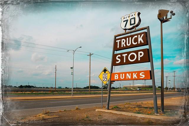 Truck Stop neon sign - Clovis, New Mexico
