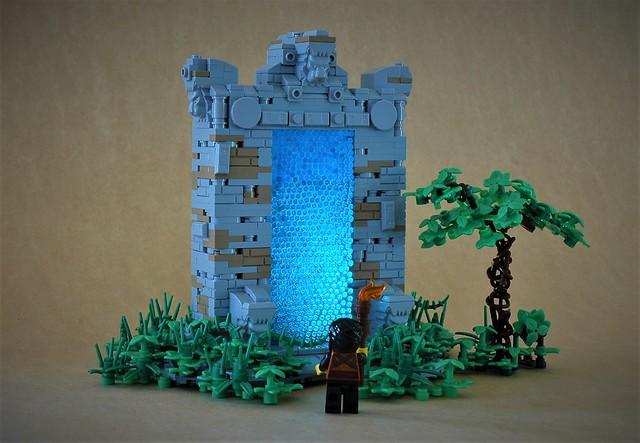 LEGO fantasy castle portal