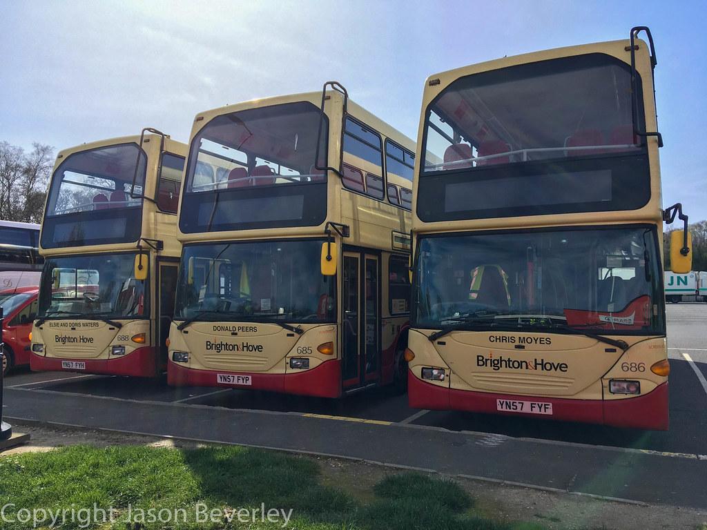 Brighton & Hove YN57FYH, YN57FYF YN57FYP