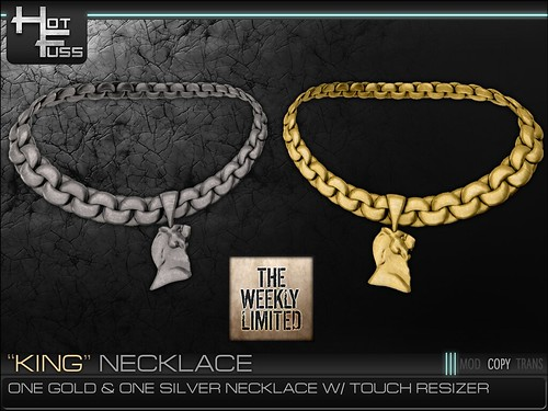 "Hot Fuss ""King"" Necklace - The Weekly Limited FREE GROUP GIFT!"