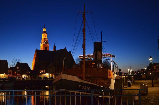 Maassluis - the Netherlands. Blue hour.