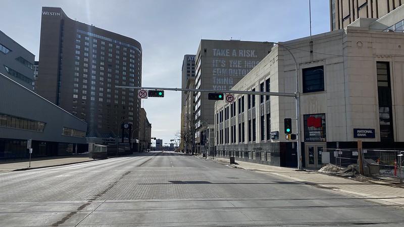 100th street Edmonton March 22 2020