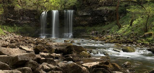 Sgwd yr Eira (snow waterfall) Walk 157 Brecon Beacons South Wales