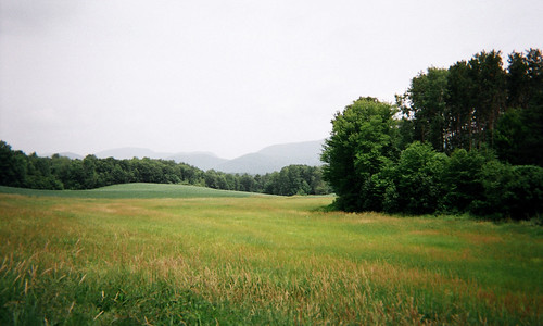 landscape vermont vt pawlet panorama june green summer summerlight field scenery rural disposablecamera