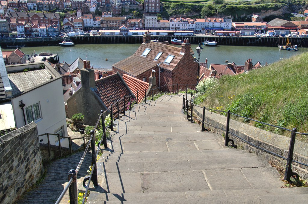 The famous steps at Whitby - Explored