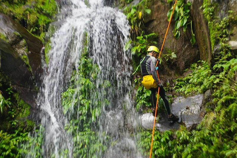 Rapelling down Ulan-ulan falls