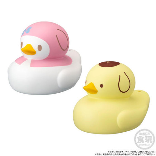 三麗鷗明星變身可愛又爆笑的小鴨鴨啦~BANDAI CANDY「洗澡小鴨!SANRIO CHARACTERS」系列食玩(アヒルック!SANRIO CHARACTERS)全十二種