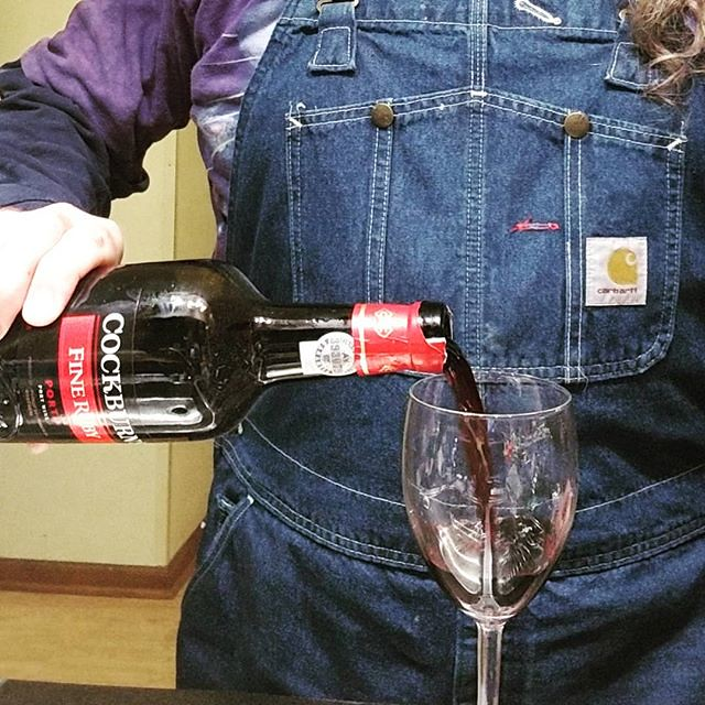 """Higgins, at a time like this, it's positively indecent that you don't need a glass of port."" --Colonel Pickering, MY FAIR LADY #wine #port #PortWine #RubyPort #cockburns #overalls #dungarees #biboveralls #carhartt #denim #bluedenim #denimoveralls #overal"