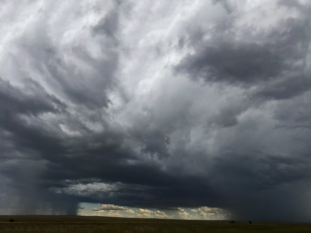 Storm along I-25 north of Las Vegas.  New Mexico.