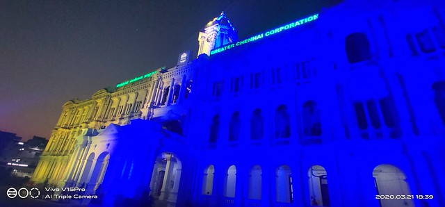 Let the buildings shine in Blue and Yellow - Downsyndrome Day