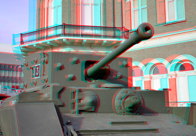 Cromwell-tank MK IV 3D anaglyph