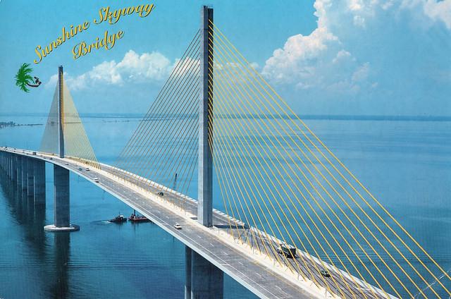 USA - Florida - Sunshine Skyway Bridge (Crossing Tampa Bay from St.Petersburg to Bradenton)