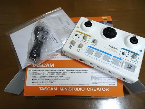 TASCAM MiNiSTUDIO CREATOR US-42W レビュー