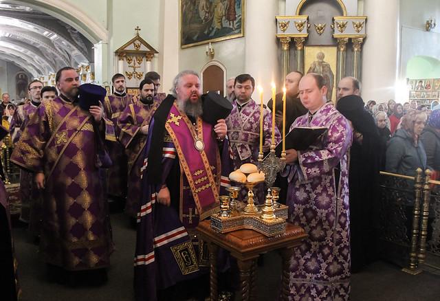 Всенощное бдение в Знаменском кафедральном соборе 21.03.2020