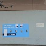 Free hand sanitiser on the streets of Preston
