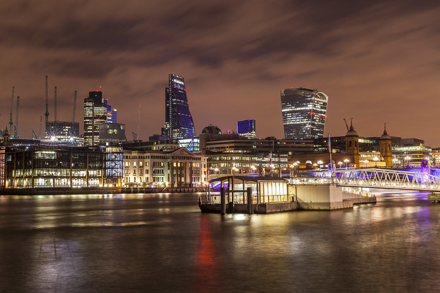 Windy Night at City of London & Bankside Pier