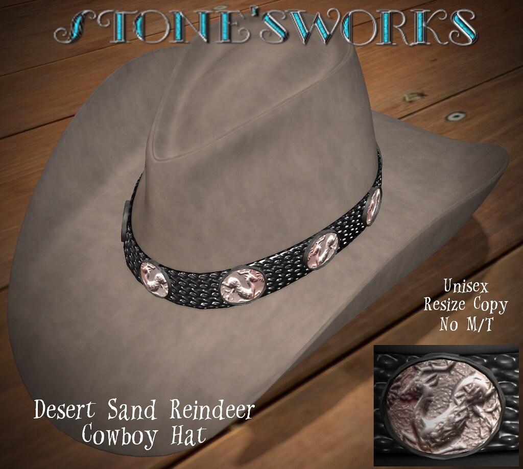 Desert Sand Reindeer CB Hat  Stone's Works