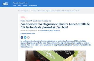 Confinement : la blogueuse culinaire Anne Lataillade fait les fonds de placard et c'est bon!