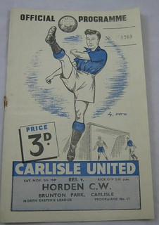 Carlisle United Reserves V Horden Colliery Welfare 5-11-1949 | by cumbriangroundhopper