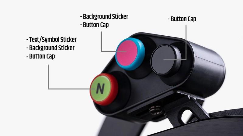 Fanatec Button Caps & Stickers 3 Layers