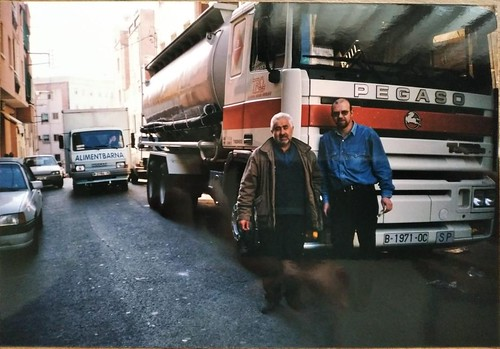 En Toni Tomàs i en Toni Vendrell davant del Pegaso Troner TRO