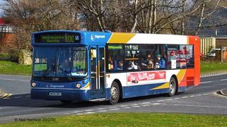 Stagecoach North East 22080, a 2004 Transbus ALX300 bodied MAN 18.22LF, reg no NK54BGY