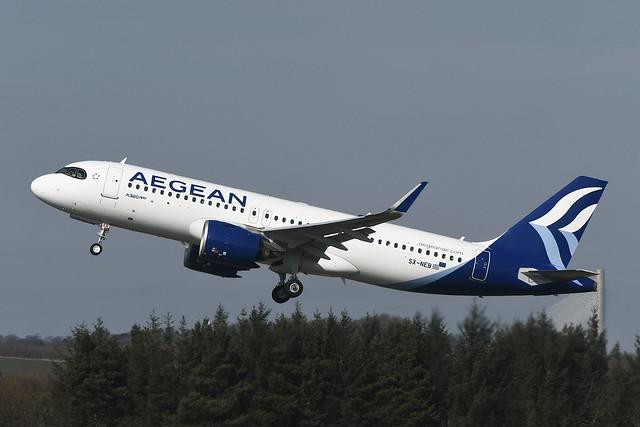 SX-NEB Airbus A320-271N EGPH 22-03-20