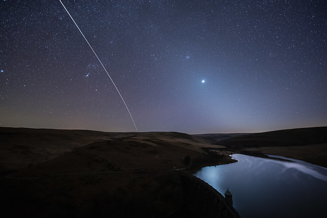 Zodiacal light and ISS Elan Valley