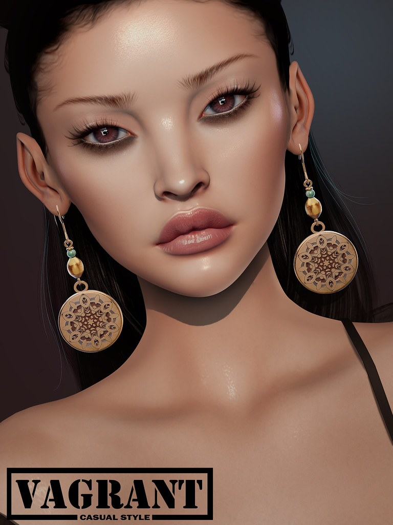 -[ vagrant ]- Indali Earrings @Shiny Shabby