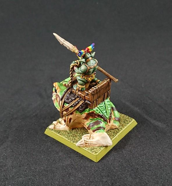 Jodri Forest Goblin Chieftain riding Blubber-Nugget: Back Right