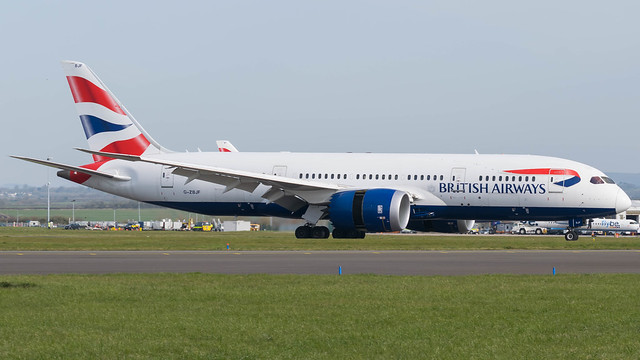 G-ZBJF - British Airways 787 @ Cardiff Airport 23/03/20