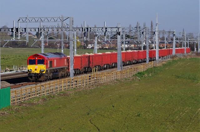 66131 - 6C75 - Harrowden Junction - 23-03-20