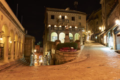 San Marino streets at night