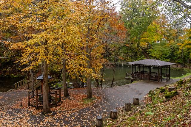 Fukidashi park in Kyogoku (Hokkaido prefecture)