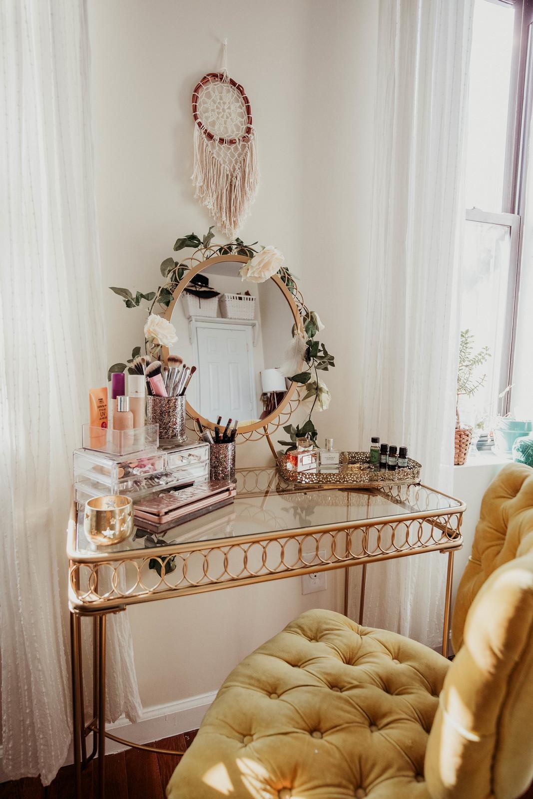 Gold Makeup vanity
