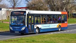 Stagecoach North East 36093, a 2009 Alexander Dennis E200, reg no NK59BNY
