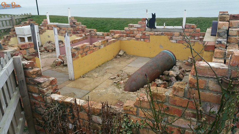 WWI 'Bombardment Memorial Garden' Cleveland Way, Whitby.