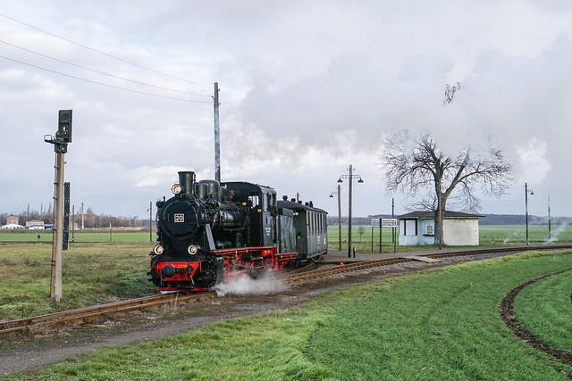 Lok 20 Mansfelder Bergwerksbahn | Siersleben | Dezember